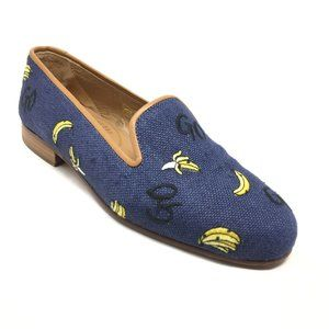 Stubbs & Wootton Loafers Flats Size 5 Yellow Blue